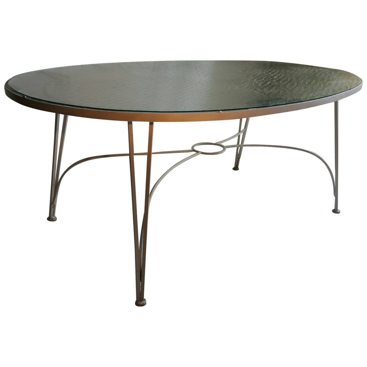 ... Russell Woodard Wrought Iron Dining Table, Pinecrest at 1stdibs