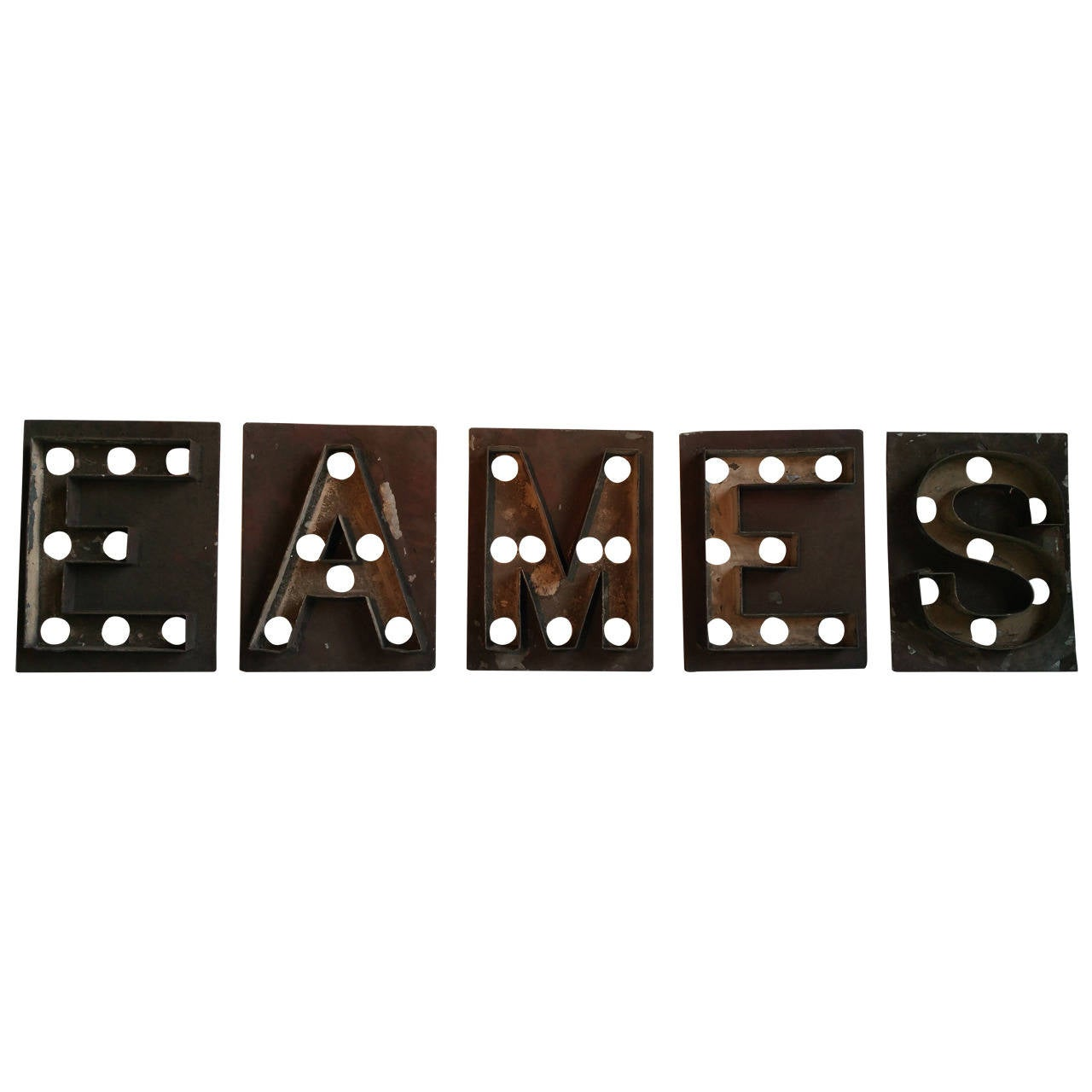 "Antique Marquee Letters, Shea's Theater, ""EAMES"" For Sale at 1stdibs"