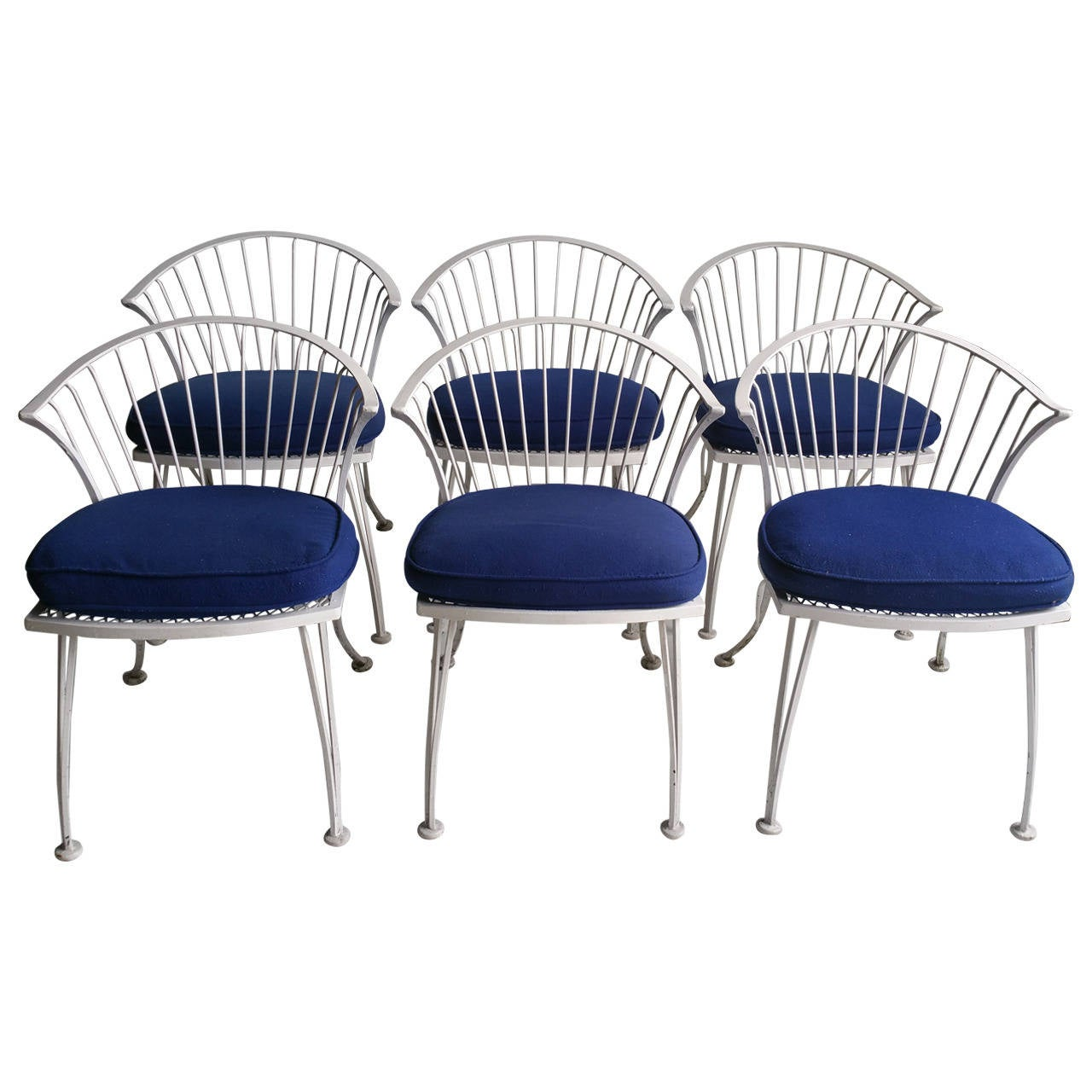 Set Of Six Russell Woodard Pinecrest Chairs, Classic Midcentury 1