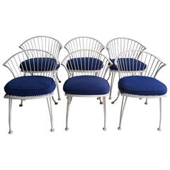 Set of Six Russell Woodard Pinecrest Chairs, Classic Midcentury