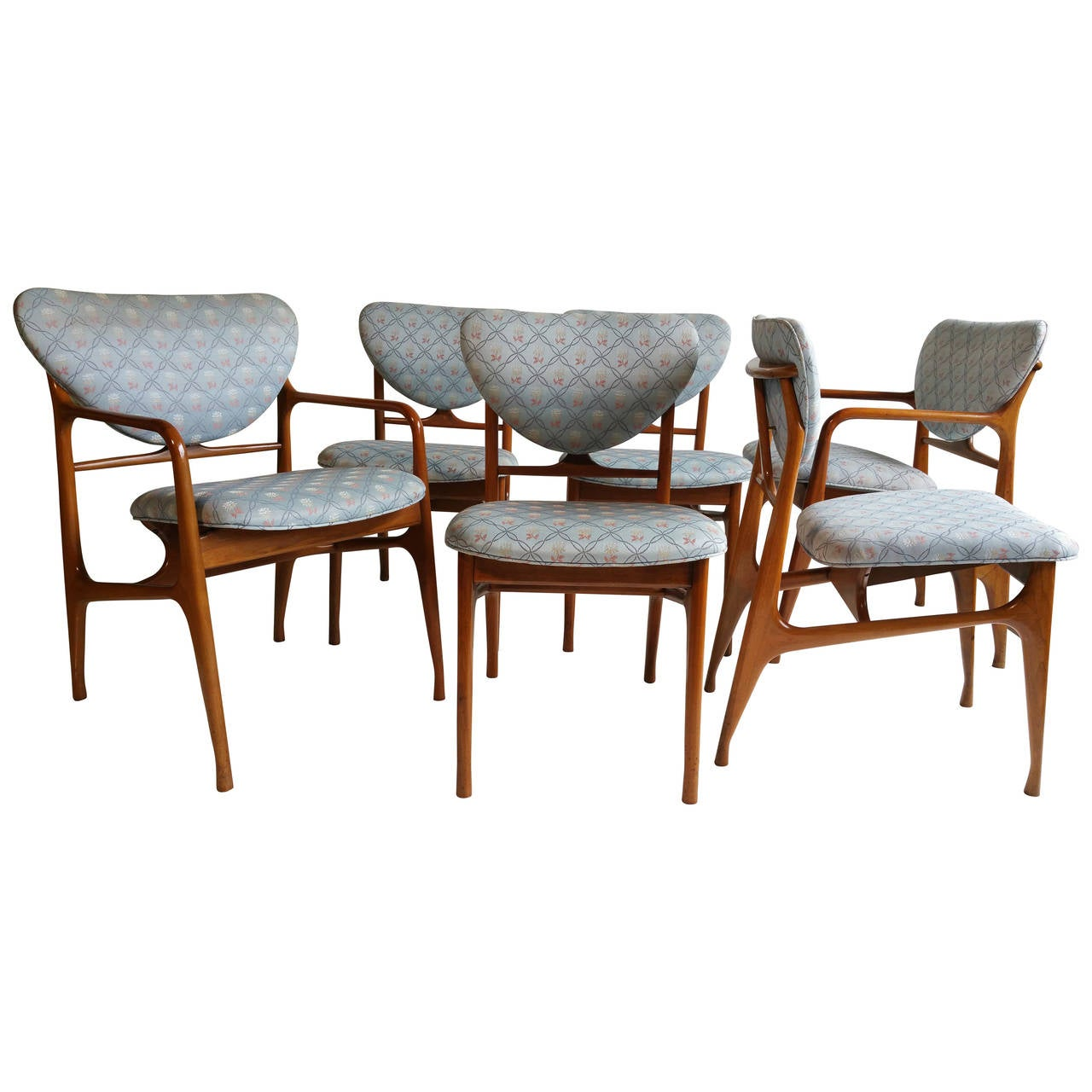 set of six mid century modern sculptural dining chairs vladimir kagan