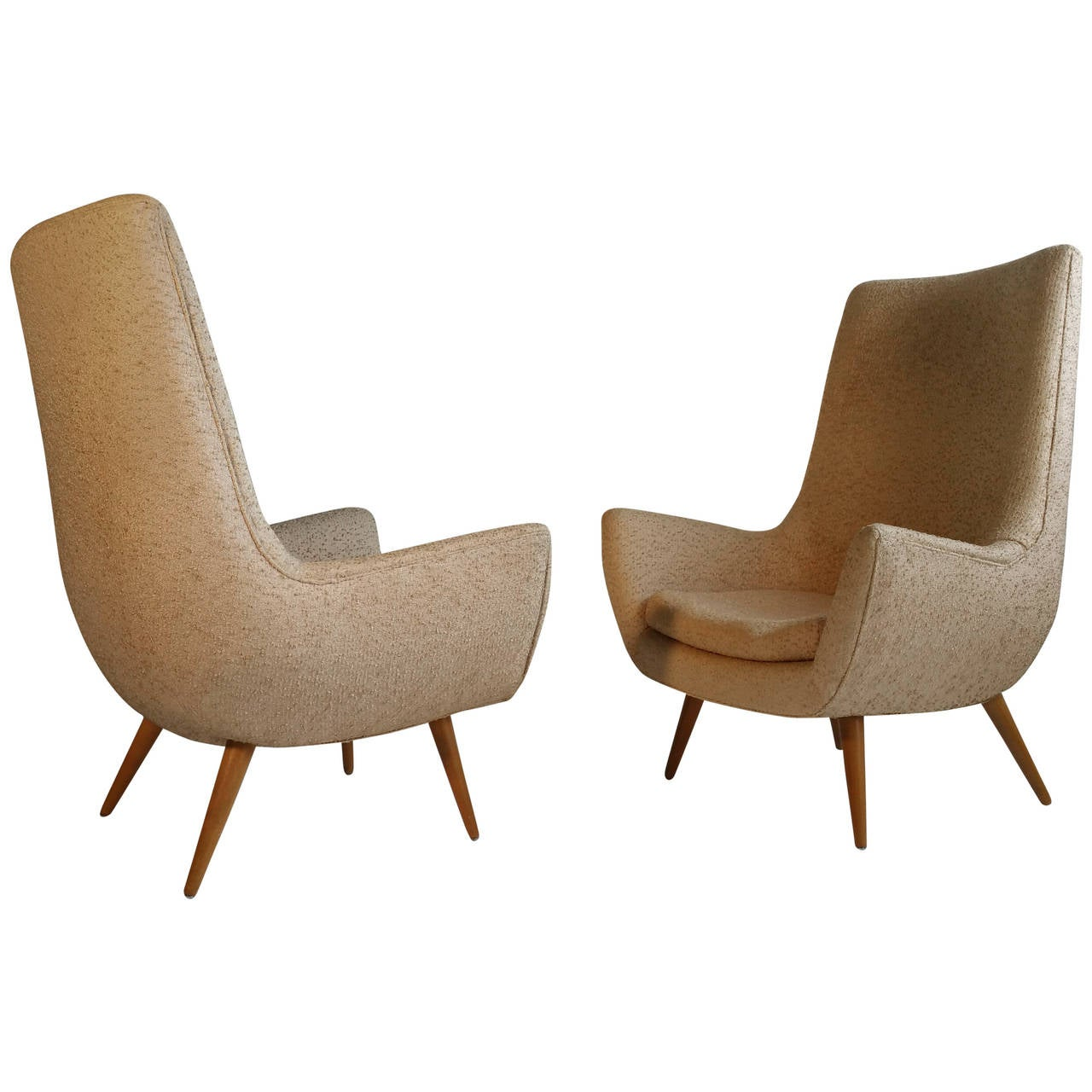 Pair of Selig Modernist Lounge Chairs at 1stdibs