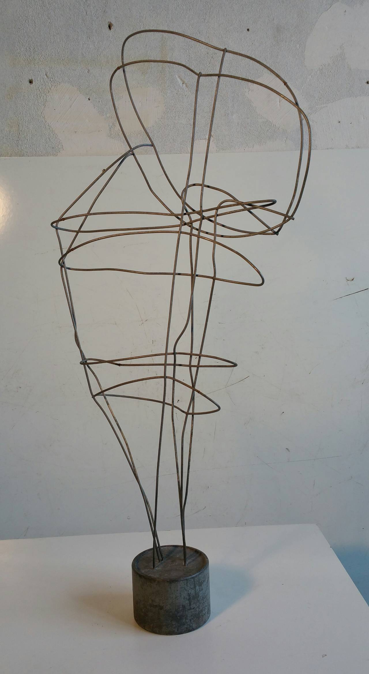 Wire Art Wire Art Abstract Head Sculpture For Sale At 1stdibs