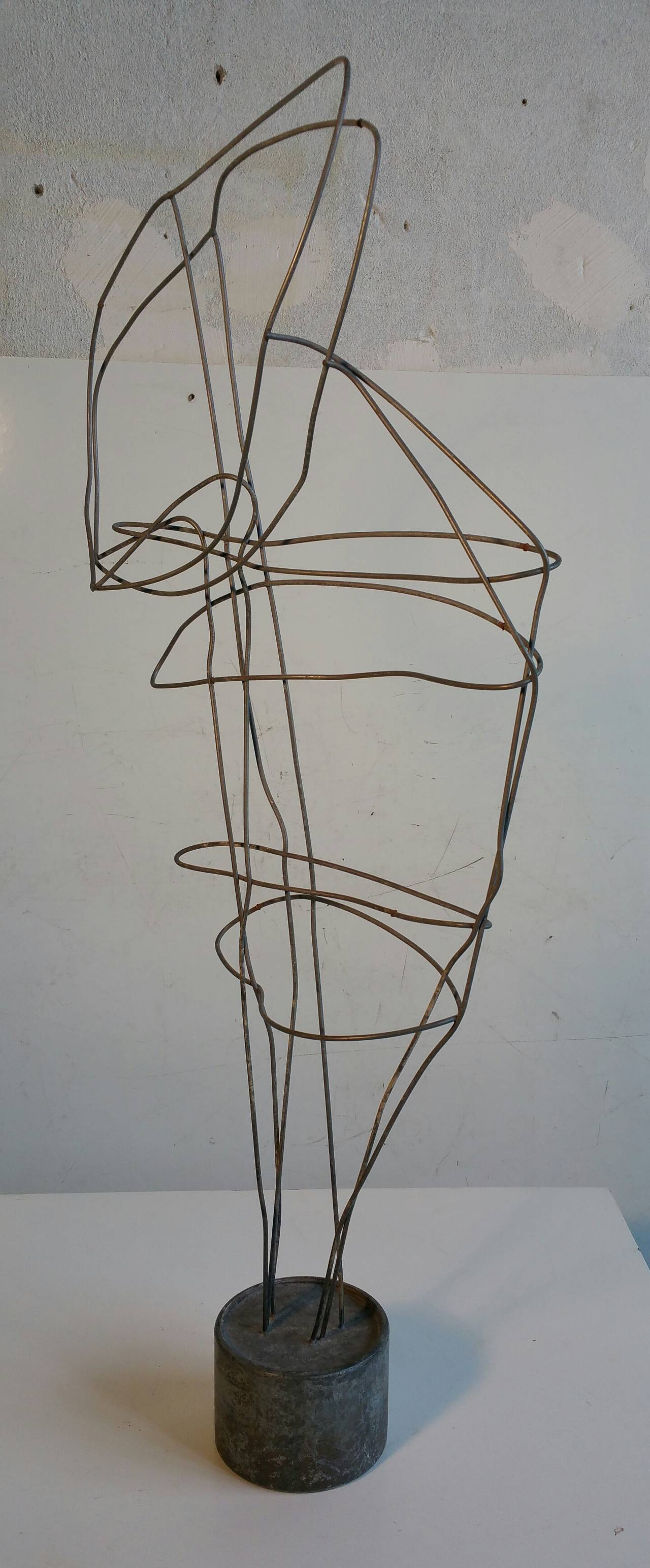 Wire Art Abstract Head Sculpture For Sale At 1stdibs