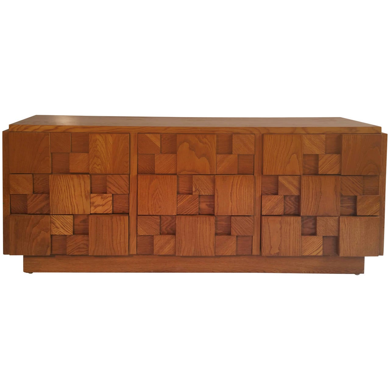 Brutalist Mosaic Series Nine Drawer Dresser By Lane Furniture Co At 1stdibs
