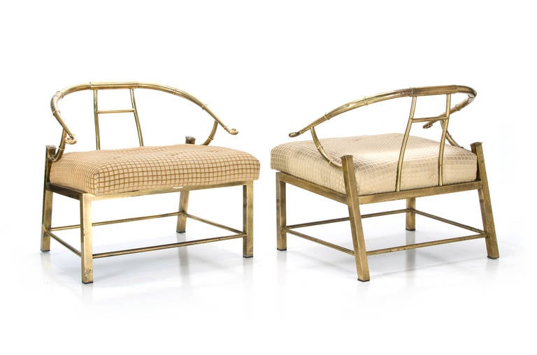 Pair of Mastercraft Asian Style Lounge Chairs In Distressed Condition In Buffalo, NY