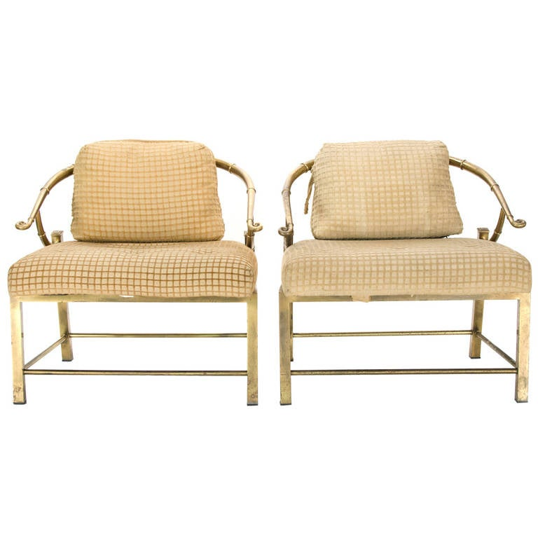 Pair of Mastercraft Asian Style Lounge Chairs