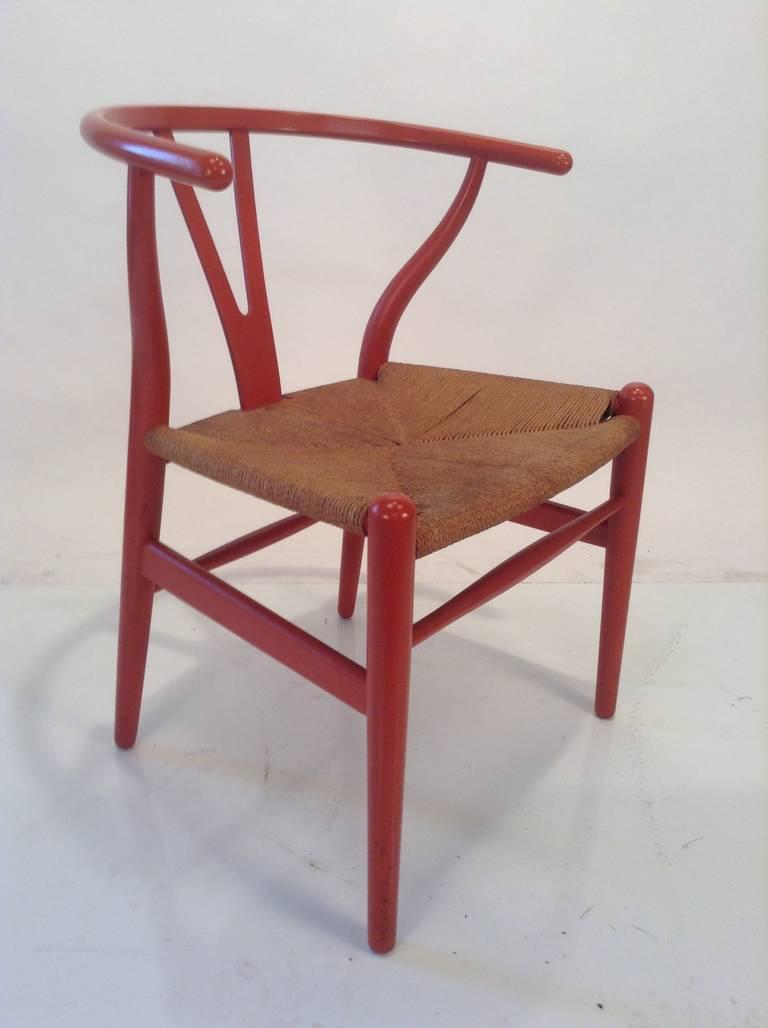 early original hans wegner wishbone y chair carl hansen denmark for sale at 1stdibs. Black Bedroom Furniture Sets. Home Design Ideas