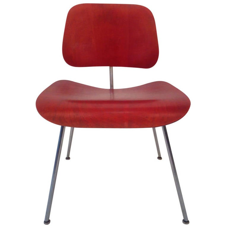 Aniline Red Charles Eames Dining Chair Metal At 1stdibs