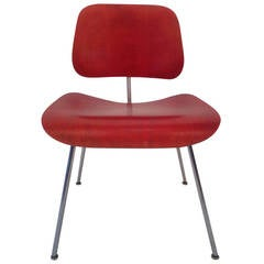 Aniline Red Charles Eames Dining Chair Metal