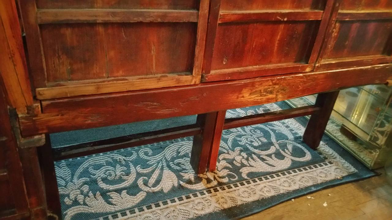 Antique Chinese Carved Canopy Bed with Alcove For Sale 3