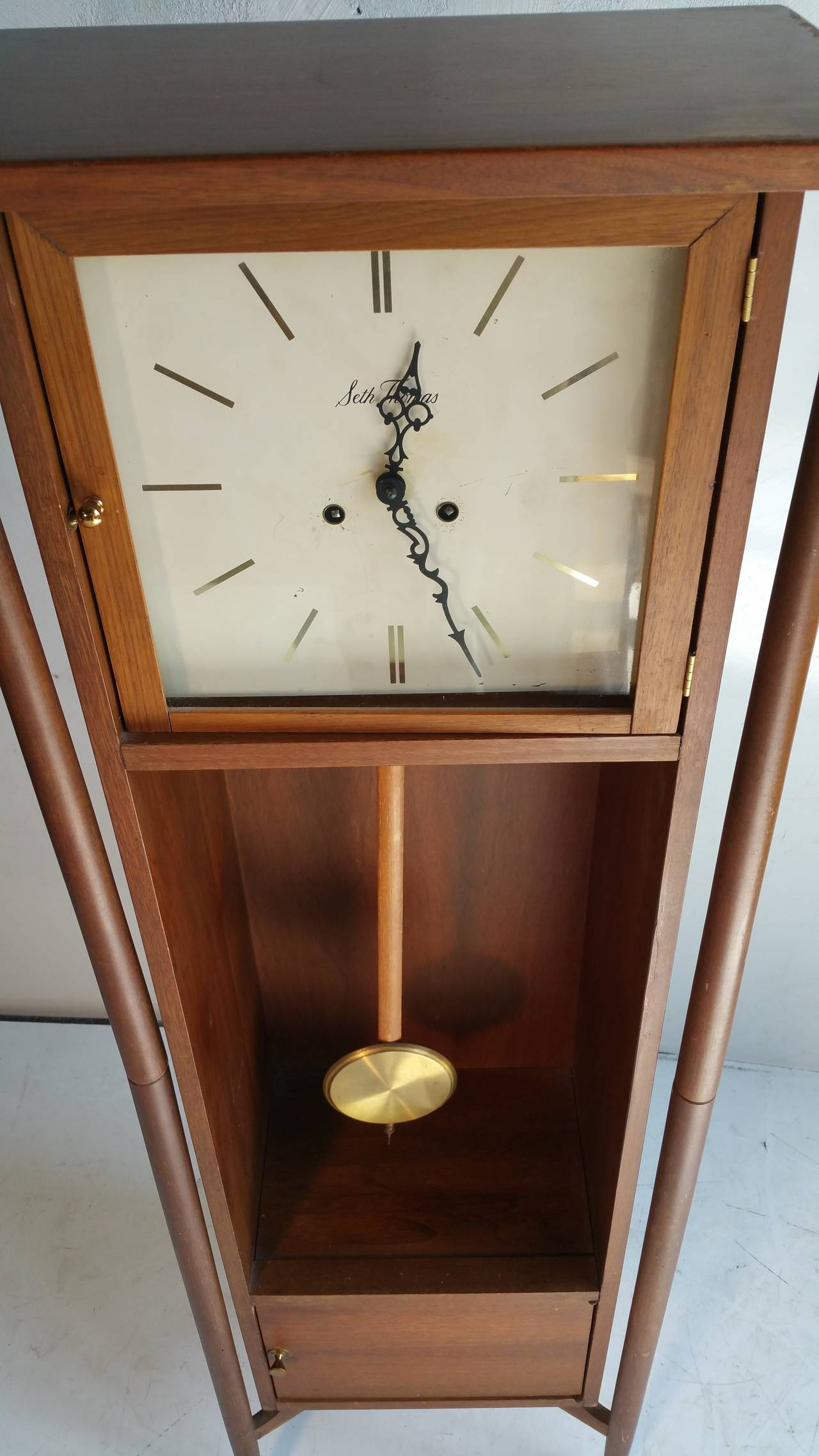 Danish Modern Grandfather Clock Seth Thomas At 1stdibs