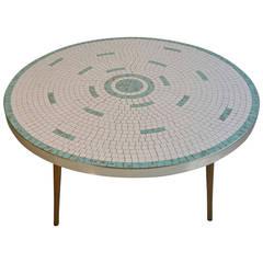 Classic 1950s Tile-Top Cocktail Table, Hohenberg Original