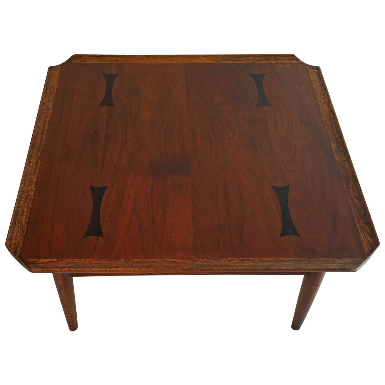 Mid-Century Modern Walnut, Ash And Rosewood Cocktail Table