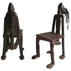 Modern 'TIKI' Shrunken Head Chairs