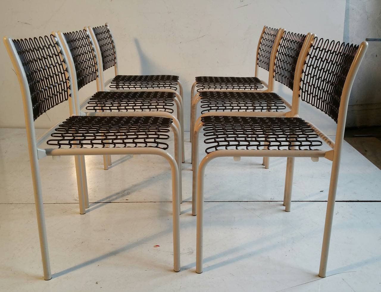 A Set Of Six Sof Tek Chairs Designed By David Rowland For Thonet. These