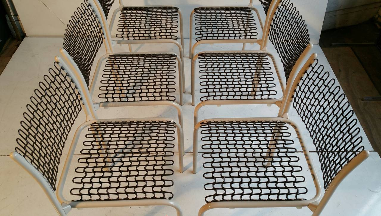 Set of Six Thonet Sof-Tek Stacking Chairs by David Roland For Sale 1