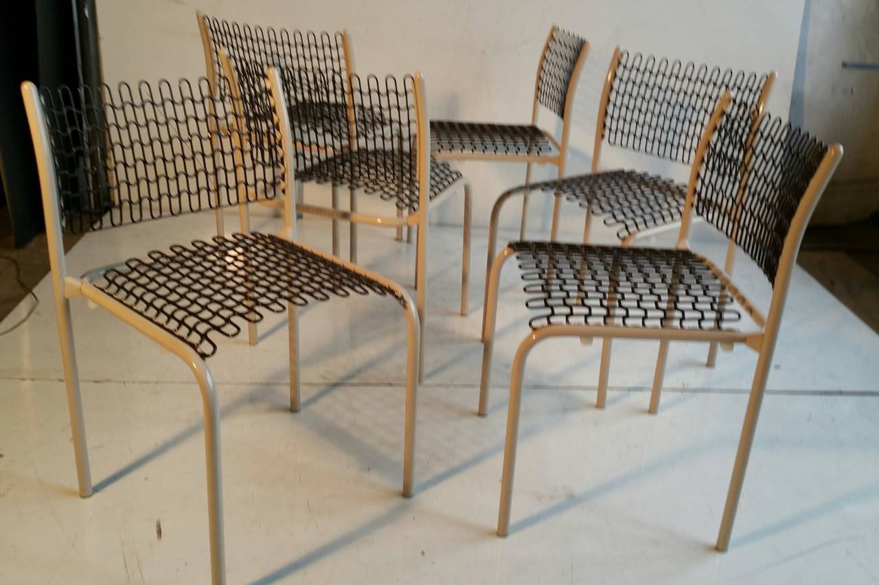 Set of Six Thonet Sof-Tek Stacking Chairs by David Roland In Good Condition For Sale In Buffalo, NY