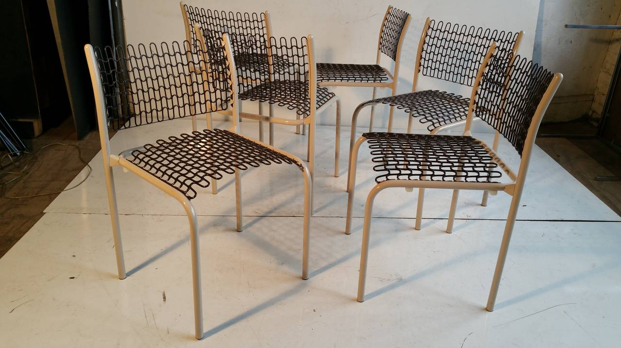 American Set of Six Thonet Sof-Tek Stacking Chairs by David Roland For Sale