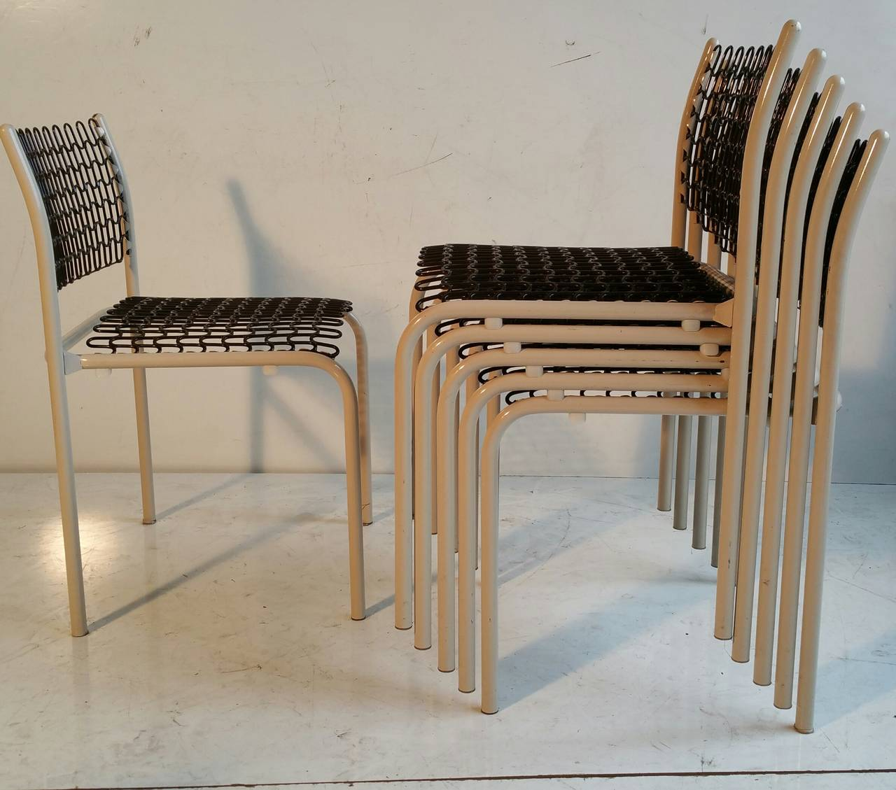 20th Century Set of Six Thonet Sof-Tek Stacking Chairs by David Roland For Sale