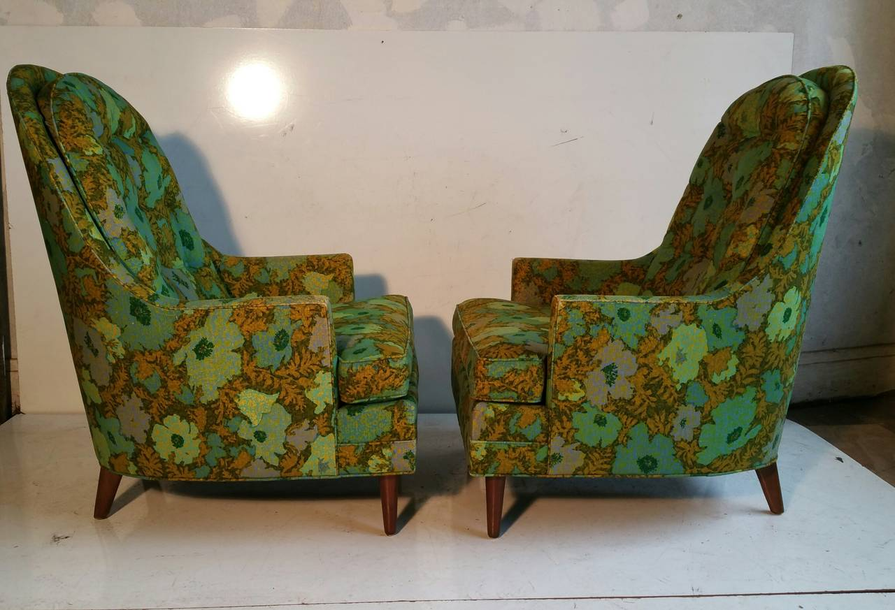 Pair Of Oversized Lounge Chairs, Mid Century Modern Custom Built By Flair 3