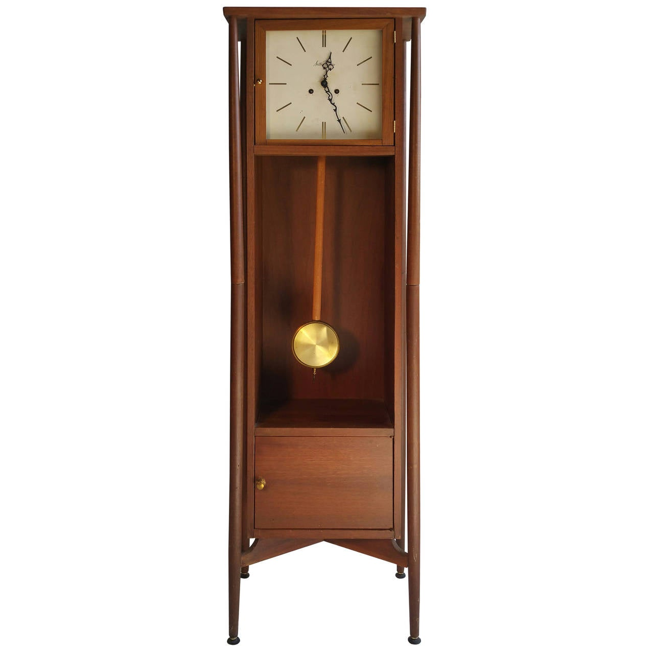 Danish Modern Grandfather Clock, Seth Thomas at 1stdibs