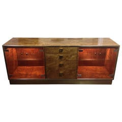 Classic Burled Server or Display Cabinet by Founders