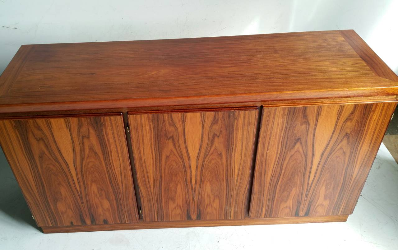 Classic Rosewood Cabinet or Server, Made in Denmark In Good Condition For Sale In Buffalo, NY