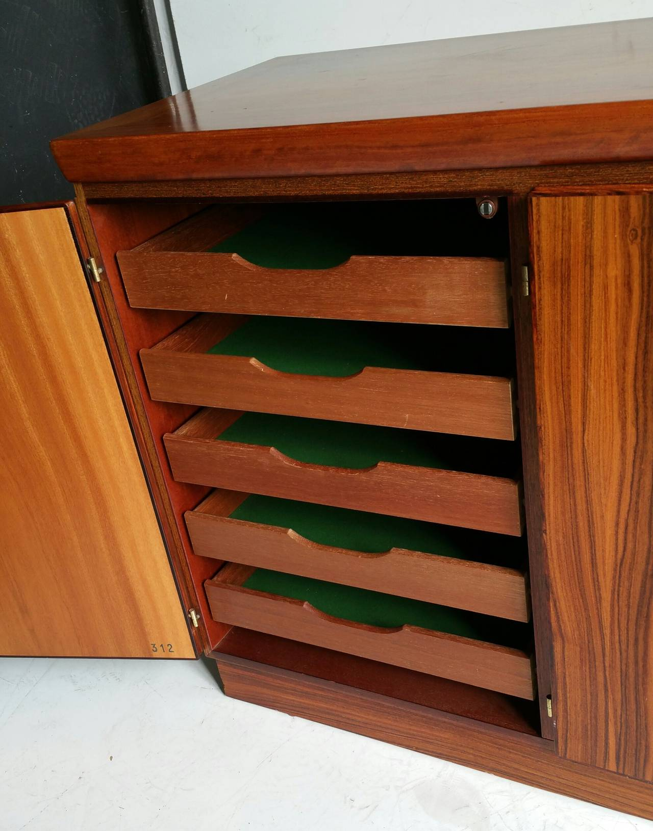 Danish Classic Rosewood Cabinet or Server, Made in Denmark For Sale