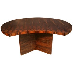 Bookmatched Brazilian Rosewood Desk by Leif Jacobsen, Denmark