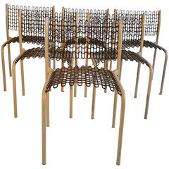 Set of Six Thonet Sof-Tek Stacking Chairs by David Roland