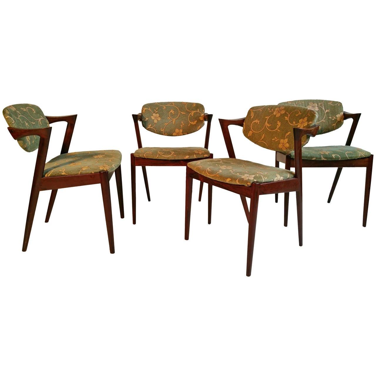 Chair 42 by kai kristiansen set of four in rosewood at 1stdibs - Kai kristiansen chair ...