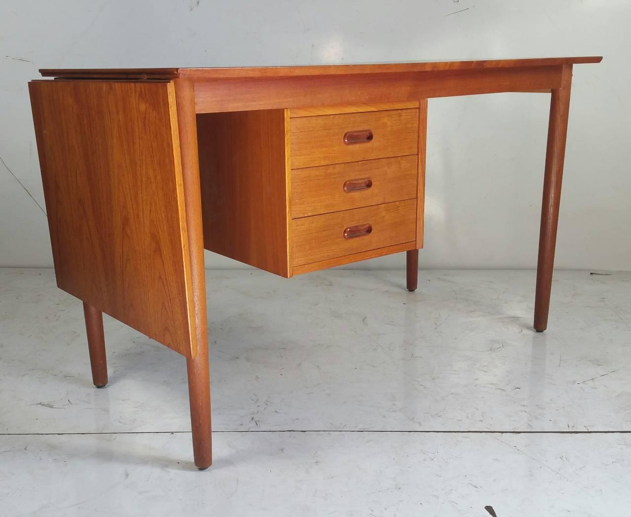 Mid Century Modern Drop Leaf Desk Designed By Arne Vodder Made In Denmark