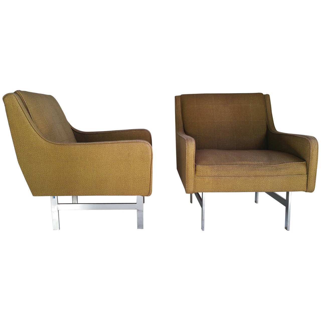 Pair of modernist lounge chairs for sale