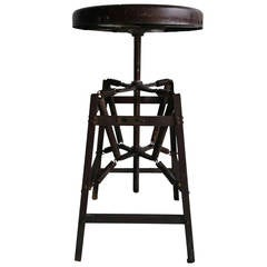Vintage Industrial Architects Black Drafting Spring Stool