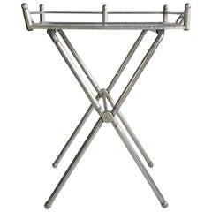 Everlast Polished Aluminum Folding Bar Tray Table