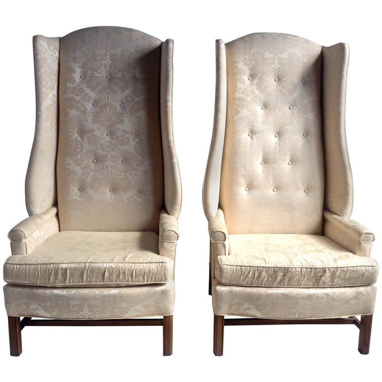 Monumental Oversized Stylized Wing Chairs Tall Quot Paris