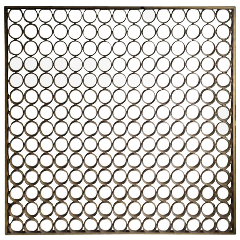 Modernist Architectural Aluminum Screen Divider For Sale