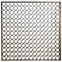 Modernist Architectural Aluminum Screen Divider