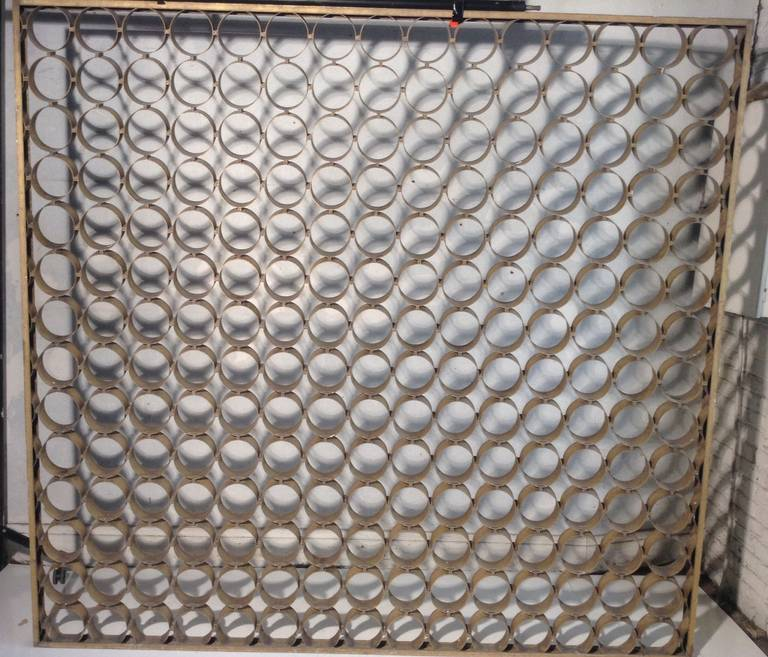 Modernist Architectural Aluminum Screen Divider For Sale 3