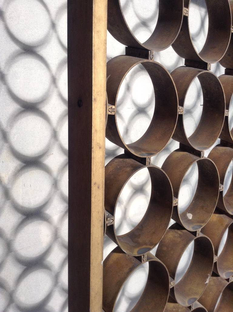 Modernist Architectural Aluminum Screen Divider For Sale 4