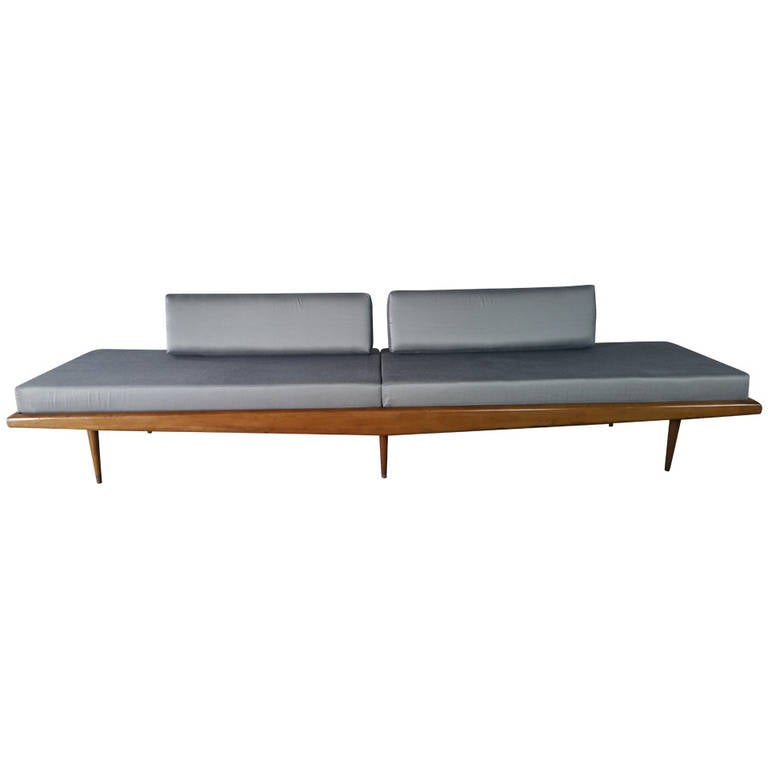 Monumental 9 Foot Mid Century Modern Daybed Sofa At 1stdibs
