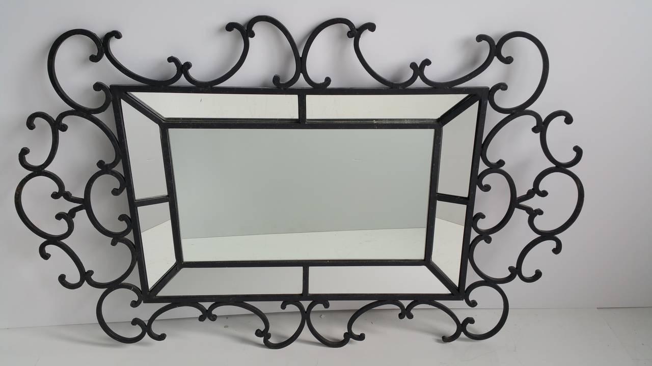 Decorative oversized wrought iron mirror whimsical for Oversized decorative wall mirrors