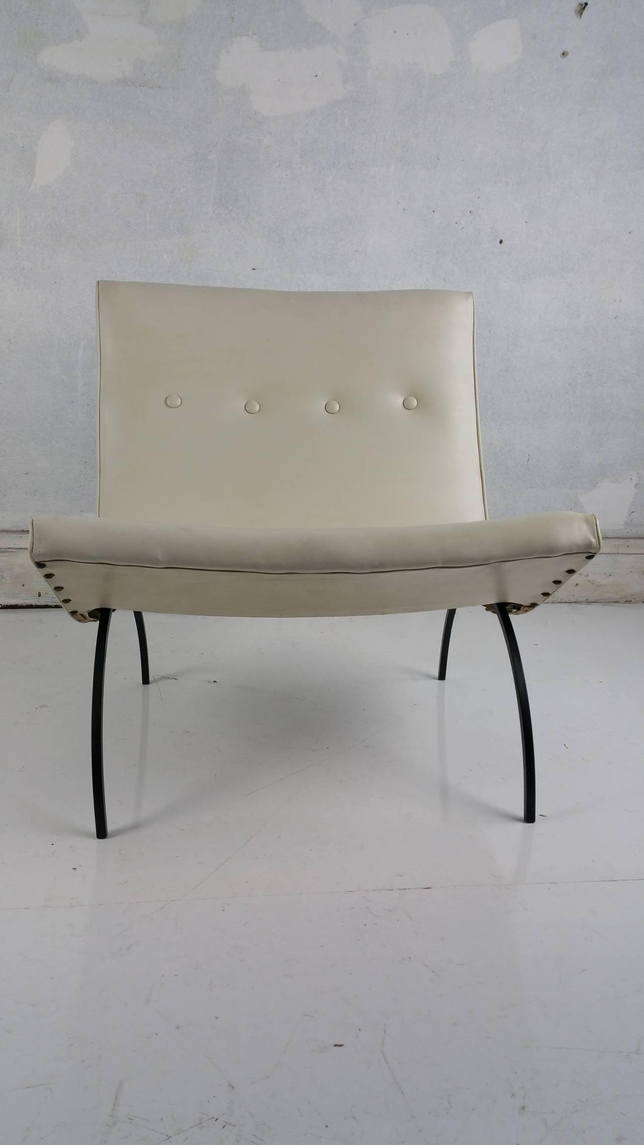 Milo Baughman Scoop Chair At 1stdibs