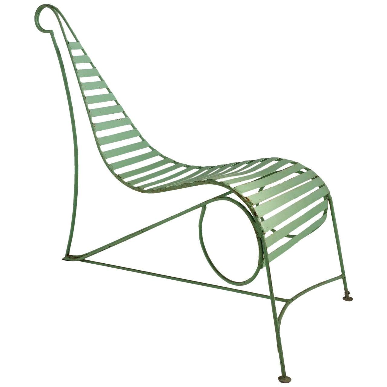 Amazing Modernist Iron Garden Lounge Chair Manner Of Andre Dubreuil Cjindustries Chair Design For Home Cjindustriesco