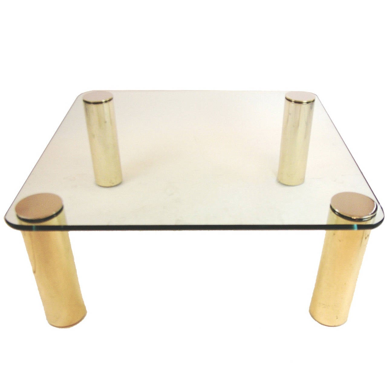 Pace collection brass and glass coffee table at 1stdibs Collectors coffee table