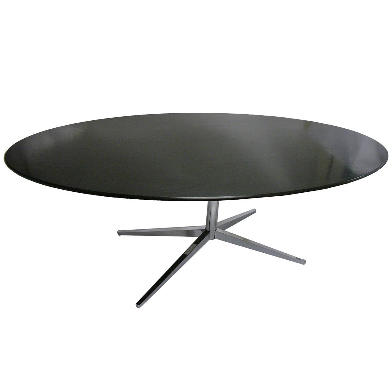 large florence knoll oval dining table in ebonized oak at 1stdibs. Black Bedroom Furniture Sets. Home Design Ideas