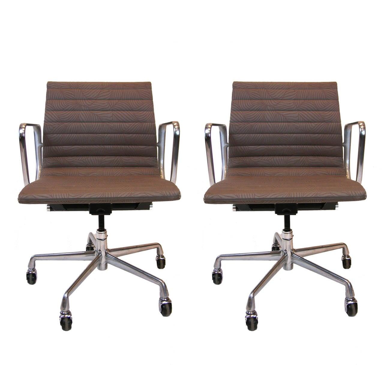 Aluminium Office Furniture : Pair of eames for herman miller aluminium group