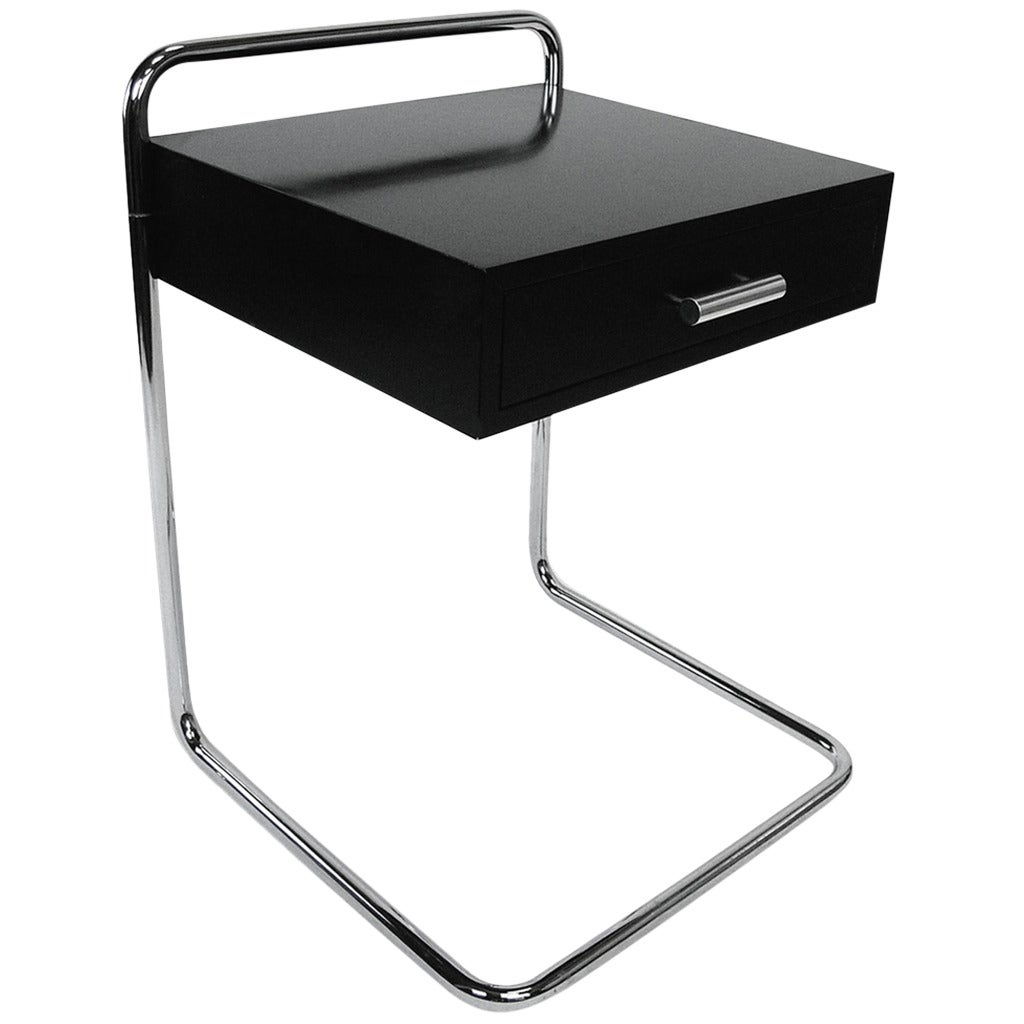 marcel breuer bauhaus single drawer end table night stand at 1stdibs. Black Bedroom Furniture Sets. Home Design Ideas