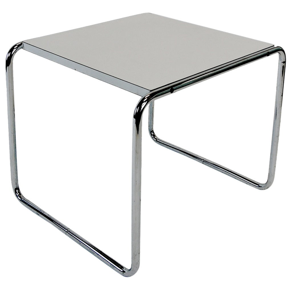 marcel breuer laccio end table by gavina at 1stdibs. Black Bedroom Furniture Sets. Home Design Ideas
